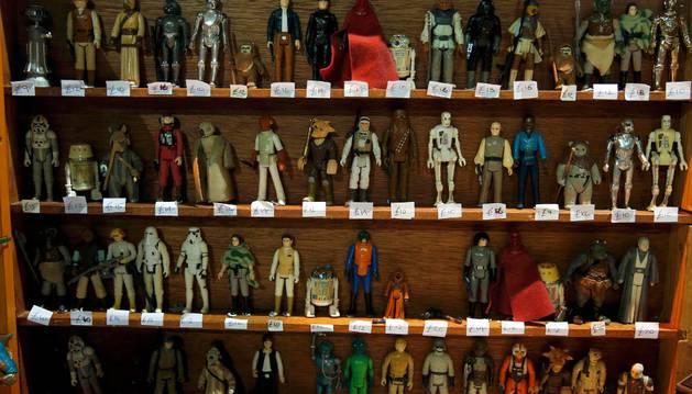 Muñecos de Star Wars.