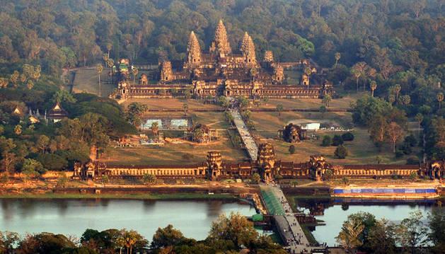 Vista aérea del templo de Angkor.