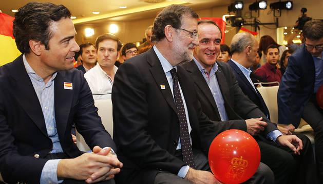 Rajoy cierra en Pamplona el mitin de UPN-PP
