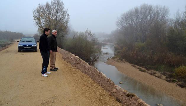 Las motas del Ega recuperan sus defensas al sur de Estella
