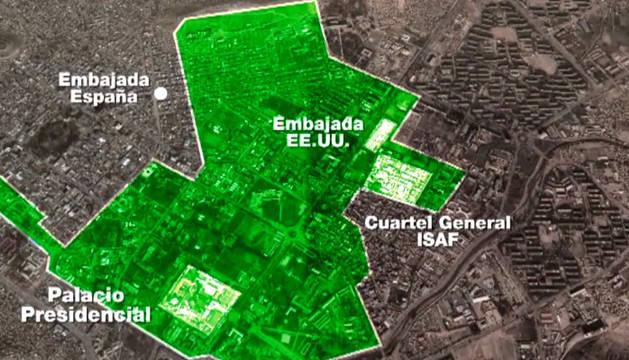 La embajada española estaba fuera de la 'Zona Verde' de seguridad