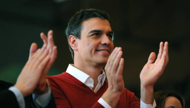 Pedro Sánchez, durante su participación en un acto público en Sevilla.