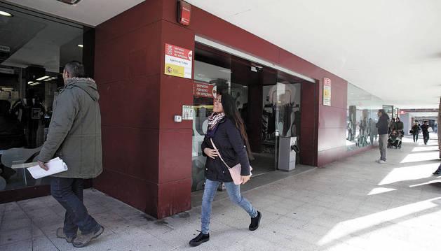 Imagen de la oficina del Servicio Navarro de Empleo en Tudela, ubicada en la calle Díaz Bravo.