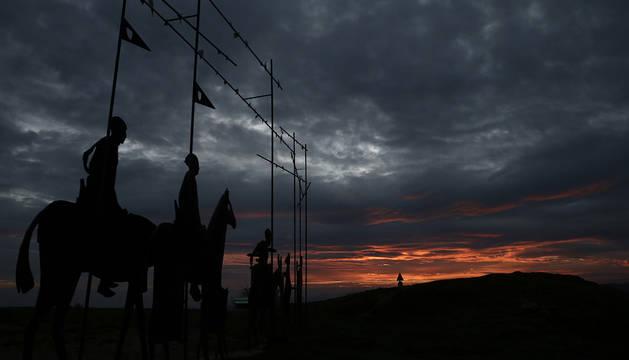 Puesta del sol desde el alto de El Perdón.