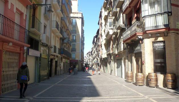 Calle Estafeta de Pamplona.