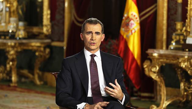 El Rey don Felipe VI pronunció el tradicional discurso navideño