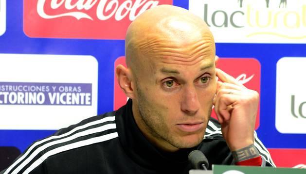 Nauzet Pérez, en rueda de prensa.