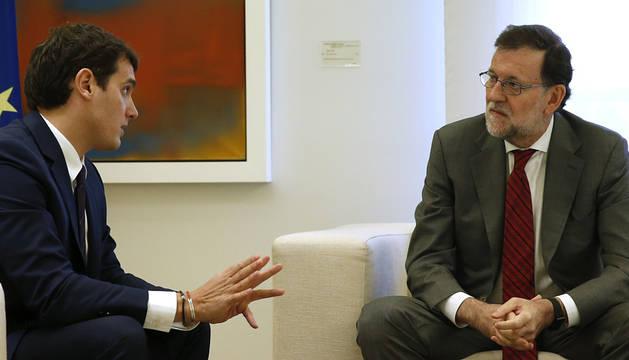 Rajoy y Rivera, reunidos en La Moncloa.