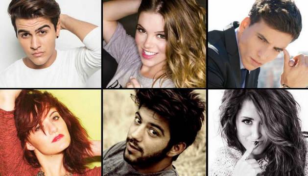 Los aspirantes Maverick, María Isabel, Xuso Jones, Electric Nana, Salvador Beltrán y Barei.