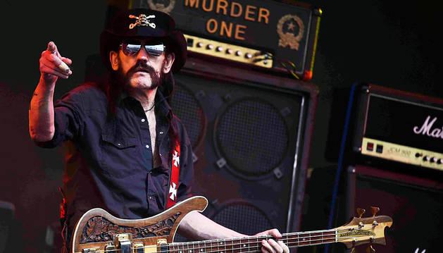 Lemmy Kilmister, en Glastonbury en junio de 2015.