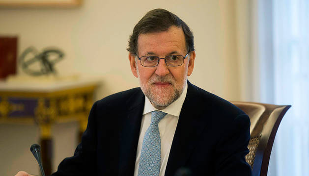 Rajoy, tras el Consejo de Ministros.