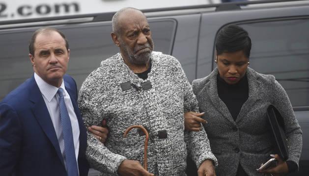 El comediante estadounidense Bill Cosby antes del juicio.