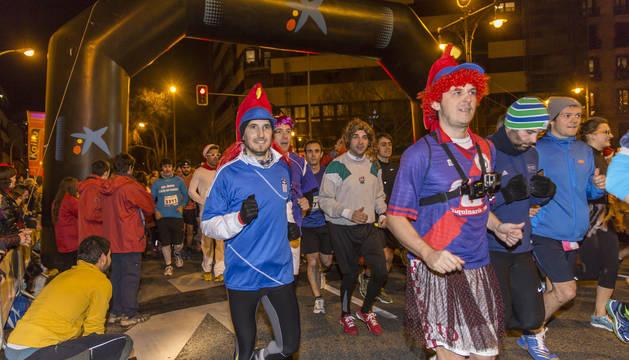 Antonio Etxeberria y Ana Ollo se han impuesto en la última carrera del año en la capital navarra.