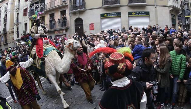 Los Reyes Magos llegan a Pamplona (I)