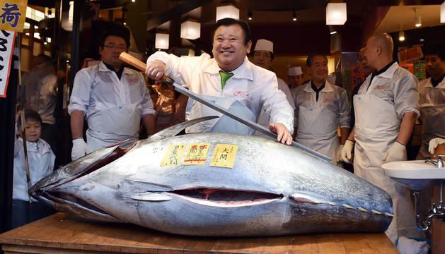 Subastado el primer atún del año en Tokio por 108.000 €
