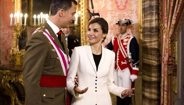 Ceremonia de la Pascua Militar en el Palacio Real