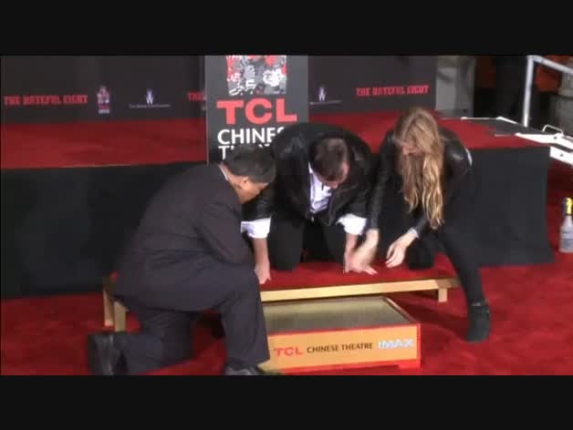 Las huellas de Tarantino, inmortalizadas