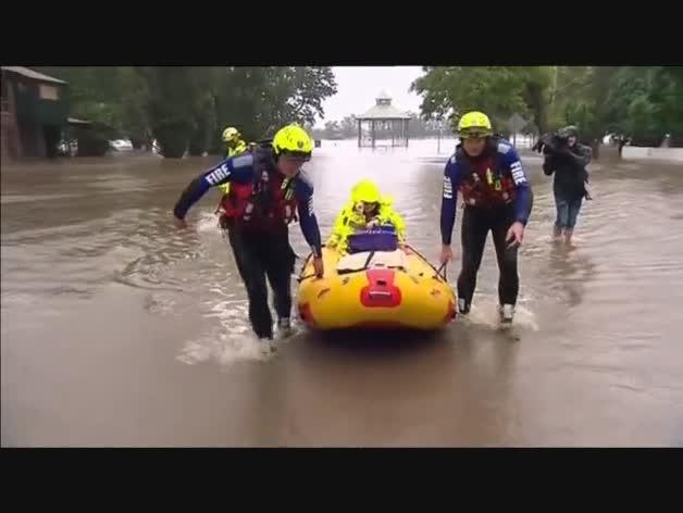 Evacuaciones en Australia por las lluvias torrenciales
