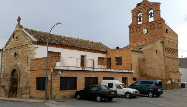Imagen de la antigua iglesia de San Blas de Ribaforada.