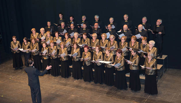 Una actuación del coro tudelano.