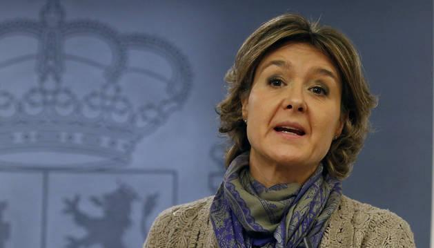 La ministra de Agricultura, Isabel García Tejerina, durante la rueda de prensa tras el Consejo de Ministros.