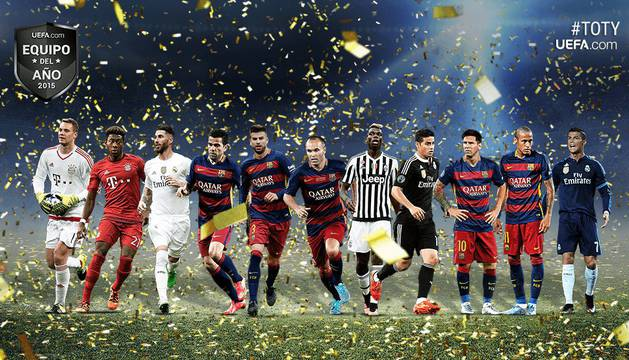 Once ideal de la UEFA 2015.