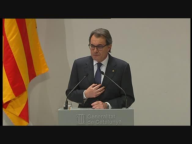 Comparecencia de Artur Mas tras el acuerdo de Gobierno en Cataluña