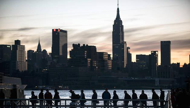 Anocher en el skyline de Manhattan.