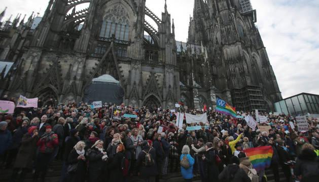 Protesta contra el sexismo en Colonia.