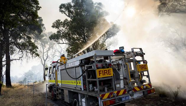 Dos muertos y 143 casas destruidas en los incendios en Australia