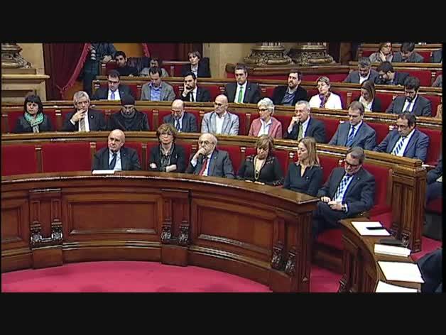 "Puigdemont: ""No es momento para cobardes"""