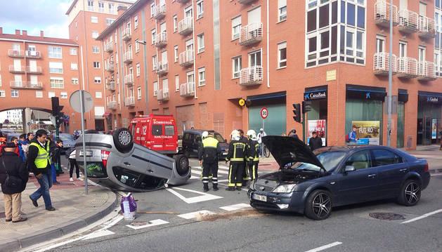 Dos heridos leves en un accidente ocurrido en San Jorge