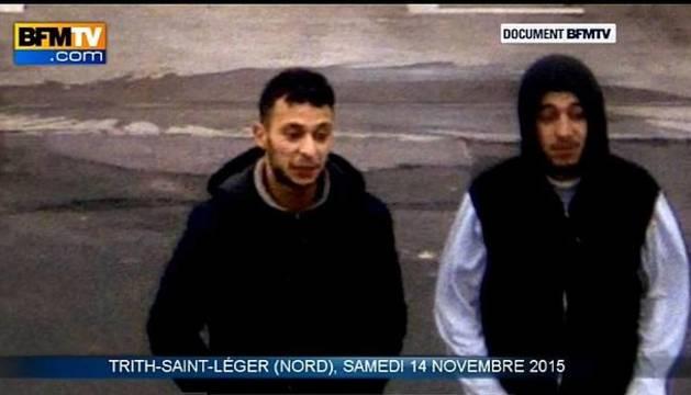 Imagen del vídeo que muestra a Salah Abdeslam en una gasolinera próxima a la frontera franco-belga.