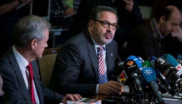 Jesús Caballero Klink y José Javier Polo durante la rueda de prensa.