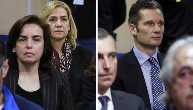 La infanta Cristina y Urdangarin llegan a los juzgados del caso Nóos