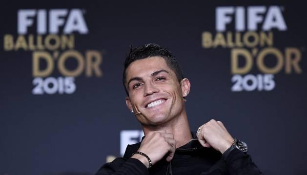 Cristiano, en la gala del Balón de Oro.