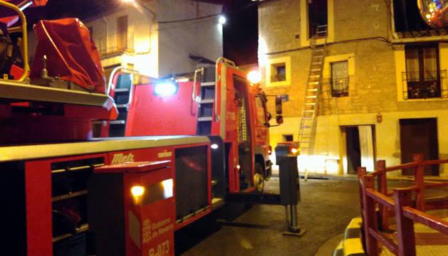 Un incendio causa importantes daños en una casa de Murillo el Fruto