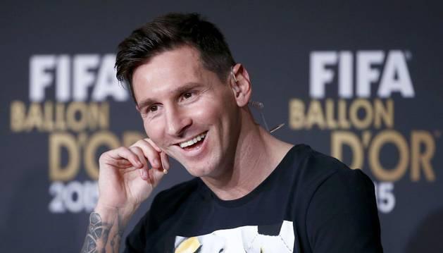 Messi, en la gala del Balón de Oro.