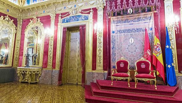 Visita virtual al Salón del Trono del Palacio de Navarra.