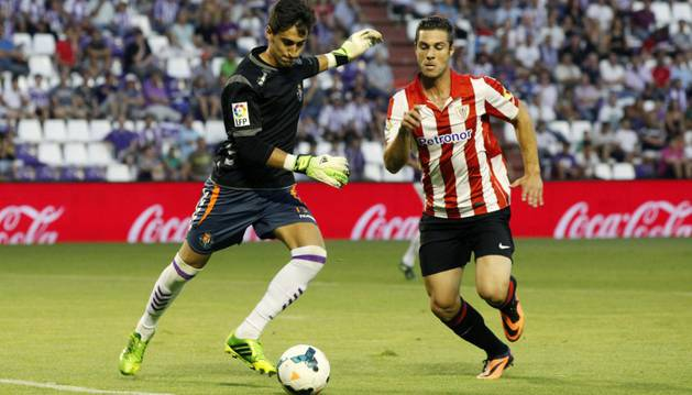 Kike Sola, con el Athletic.