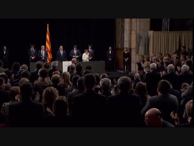 """Puigdemont: """"Estamos ahogados y humillados financieramente, y menospreciados en nuestra identidad"""""""