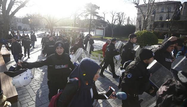 Atentado en la zona turística de Estambul