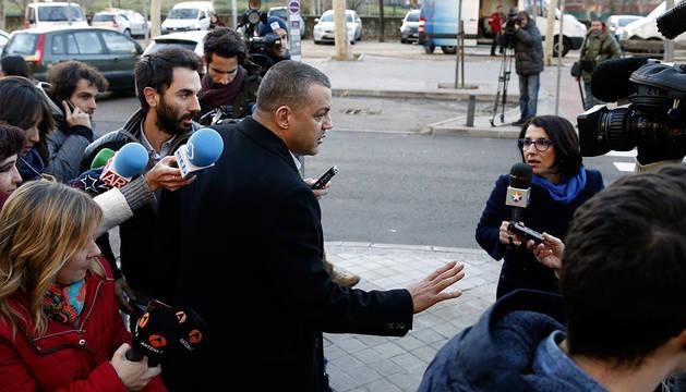 El empresario Miguel Ángel Flores, a su llegada a la Audiencia Provincial de Madrid.