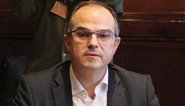 El presidente del Grupo de Junts pel Sí en el Parlament, Jordi Turull.