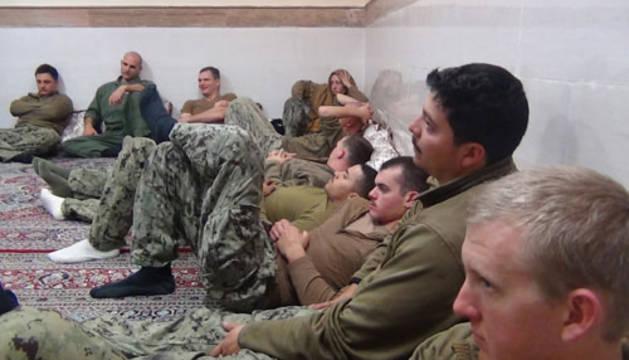Los militares estadounidenses retenidos en Teherán.