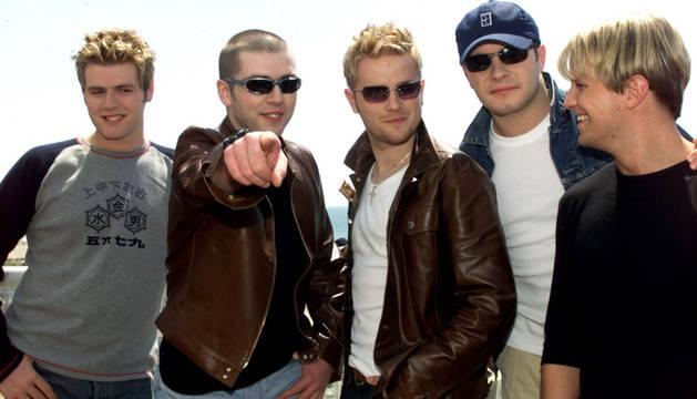 Nickie Byrne, Shane Filan, Kian Egan, Markus Feehily y Bryan McFadden, miembros de Westlife.