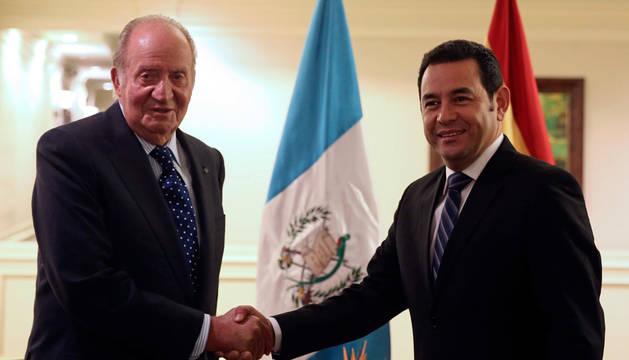 El Rey Juan Carlos y Morales afianzan la relación entre España y Guatemala