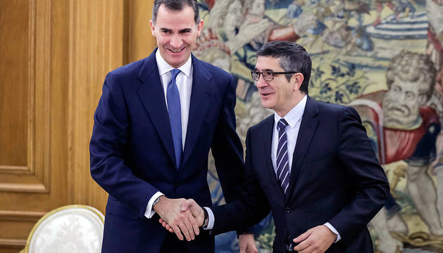 Felipe VI recibe a Patxi López en la Zarzuela