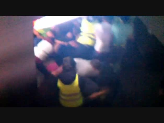 Imagenes inéditas del tapón formado en el Madrid Arena