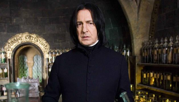 Rickman, en su papel en Harry Potter.